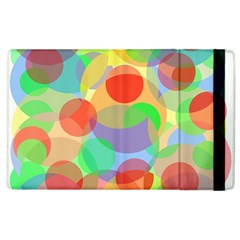 Colorful circles Apple iPad 2 Flip Case