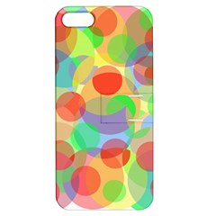 Colorful circles Apple iPhone 5 Hardshell Case with Stand