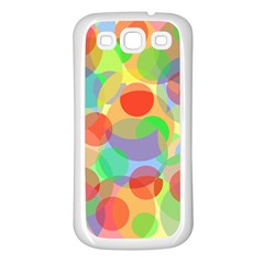 Colorful circles Samsung Galaxy S3 Back Case (White)