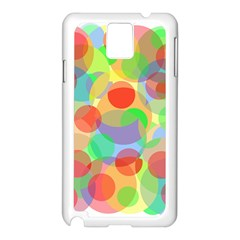 Colorful circles Samsung Galaxy Note 3 N9005 Case (White)