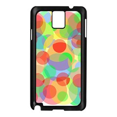 Colorful circles Samsung Galaxy Note 3 N9005 Case (Black)