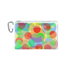 Colorful circles Canvas Cosmetic Bag (S)