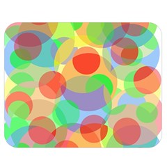 Colorful circles Double Sided Flano Blanket (Medium)