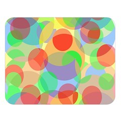 Colorful circles Double Sided Flano Blanket (Large)