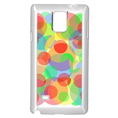 Colorful circles Samsung Galaxy Note 4 Case (White)