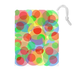 Colorful circles Drawstring Pouches (Extra Large)