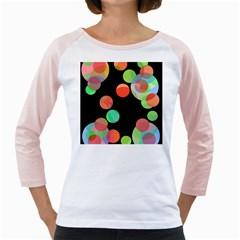 Colorful circles Girly Raglans