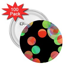 Colorful circles 2.25  Buttons (100 pack)