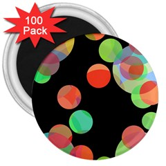 Colorful circles 3  Magnets (100 pack)