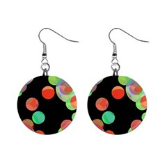 Colorful circles Mini Button Earrings