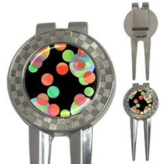 Colorful circles 3-in-1 Golf Divots
