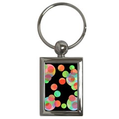 Colorful circles Key Chains (Rectangle)