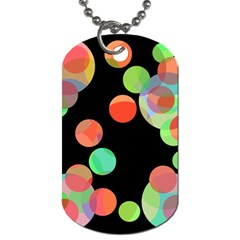 Colorful circles Dog Tag (Two Sides)