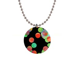 Colorful circles Button Necklaces