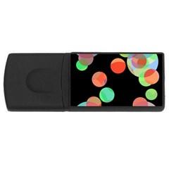 Colorful circles USB Flash Drive Rectangular (4 GB)