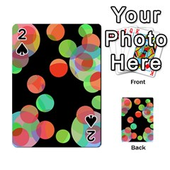 Colorful circles Playing Cards 54 Designs