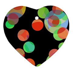 Colorful circles Heart Ornament (2 Sides)