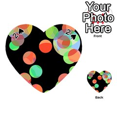 Colorful circles Playing Cards 54 (Heart)