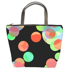 Colorful circles Bucket Bags