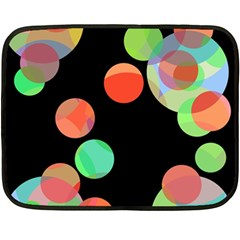 Colorful circles Double Sided Fleece Blanket (Mini)