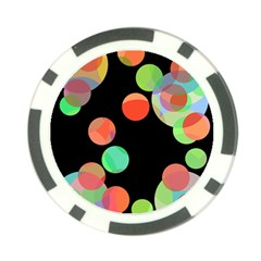 Colorful circles Poker Chip Card Guards (10 pack)