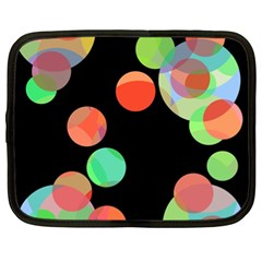 Colorful circles Netbook Case (XL)