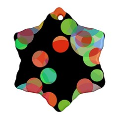 Colorful circles Snowflake Ornament (2-Side)