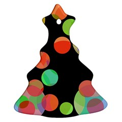 Colorful circles Christmas Tree Ornament (2 Sides)