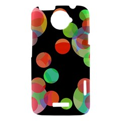 Colorful circles HTC One X Hardshell Case