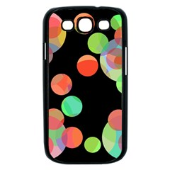 Colorful circles Samsung Galaxy S III Case (Black)