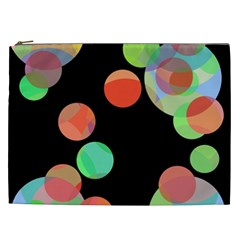 Colorful circles Cosmetic Bag (XXL)