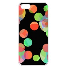 Colorful circles Apple iPhone 5 Seamless Case (White)