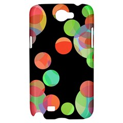 Colorful circles Samsung Galaxy Note 2 Hardshell Case