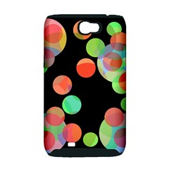 Colorful circles Samsung Galaxy Note 2 Hardshell Case (PC+Silicone)