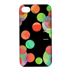 Colorful circles Apple iPhone 4/4S Hardshell Case with Stand