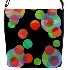 Colorful circles Flap Messenger Bag (S)