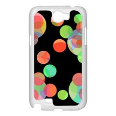 Colorful circles Samsung Galaxy Note 2 Case (White)