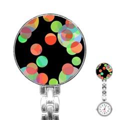 Colorful circles Stainless Steel Nurses Watch
