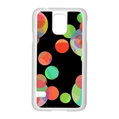 Colorful circles Samsung Galaxy S5 Case (White)