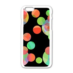 Colorful circles Apple iPhone 6/6S White Enamel Case