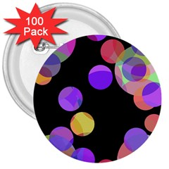 Colorful decorative circles 3  Buttons (100 pack)