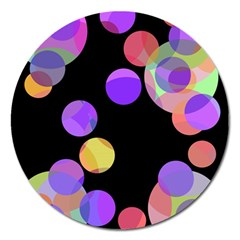 Colorful decorative circles Magnet 5  (Round)