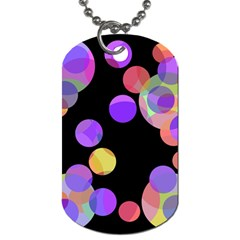 Colorful decorative circles Dog Tag (One Side)