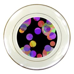Colorful decorative circles Porcelain Plates