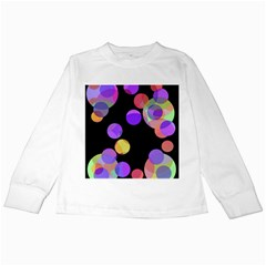 Colorful decorative circles Kids Long Sleeve T-Shirts