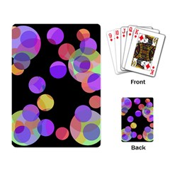 Colorful decorative circles Playing Card