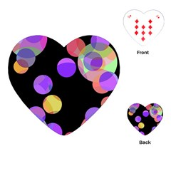 Colorful decorative circles Playing Cards (Heart)