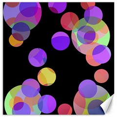 Colorful decorative circles Canvas 20  x 20
