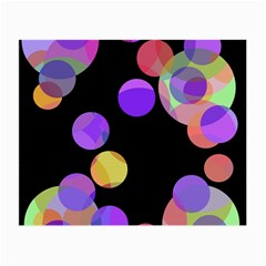 Colorful decorative circles Small Glasses Cloth (2-Side)