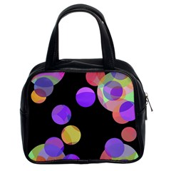 Colorful decorative circles Classic Handbags (2 Sides)